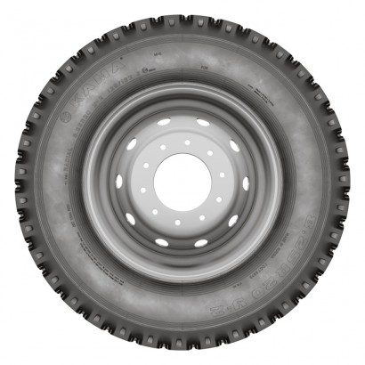 Фото 1 Грузовая шина КАМА (У-2) 8,25 R20 125/122J , 10 сл, с камерой без ободной ленты (НкШЗ)